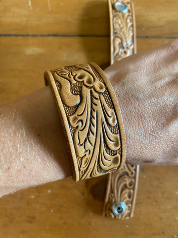 Annie Tooled Belt Cuff