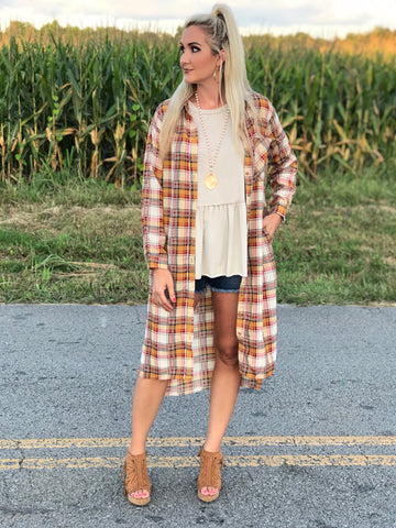 Hayloft Plaid Duster