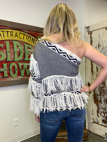 Take You Out One Shoulder Sweater