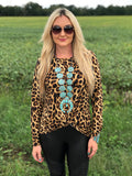 Levelland Leopard Twist Top