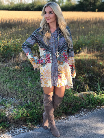 Oak Ridge Boho Print Dress