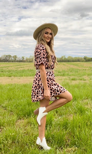 Jolene Leopard Swing Dress