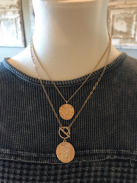 Torch Coin Necklace