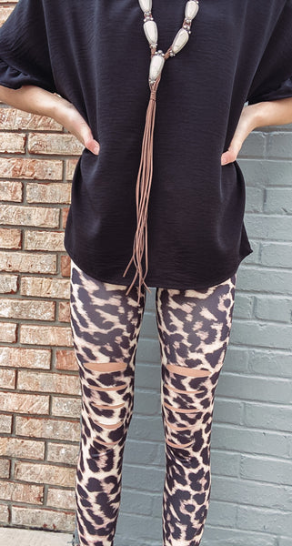 Leopard Slash Leggings