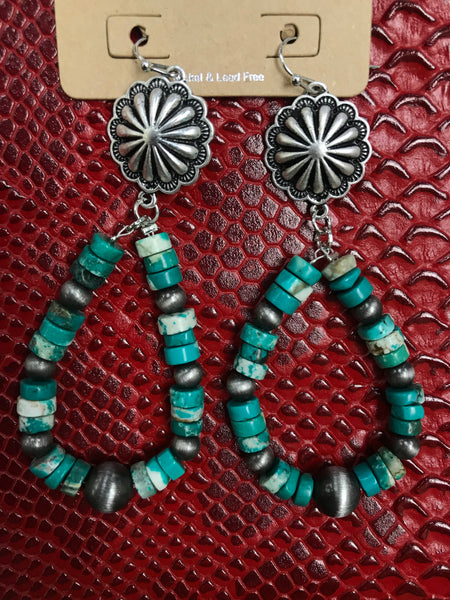 Pancho Multi Turquoise Earrings
