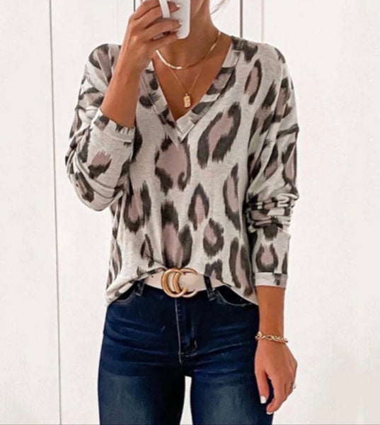 Love Lockdown Mauve Leopard Top
