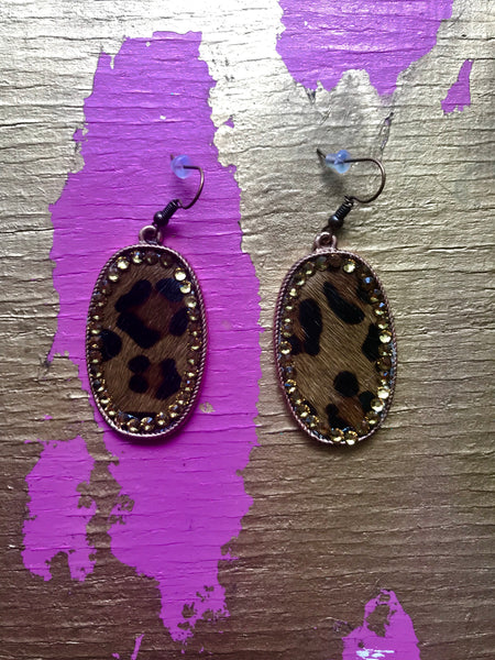 Leopard Crystal Earrings