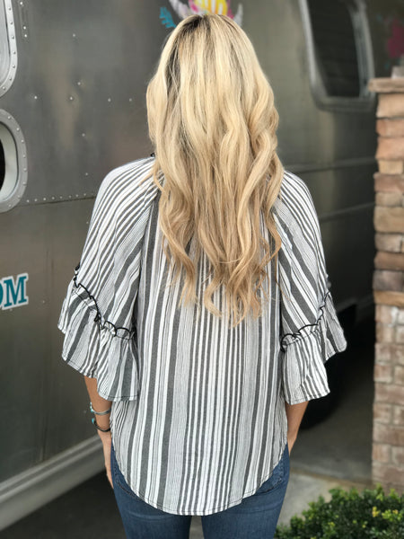 Del Mar Striped Top