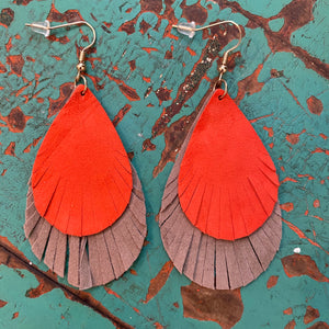 Autumn Earrings in Rust & Mocha