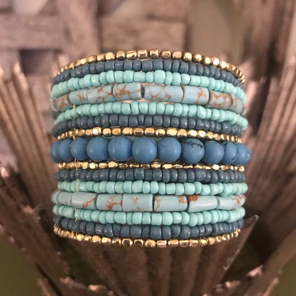Robin Turquoise Beaded Cuff