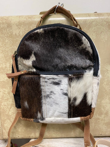 Animal Print Small Backpack
