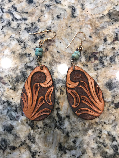 Wyo Leather Earrings