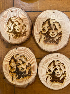 Holly Dolly Wooden Ornament