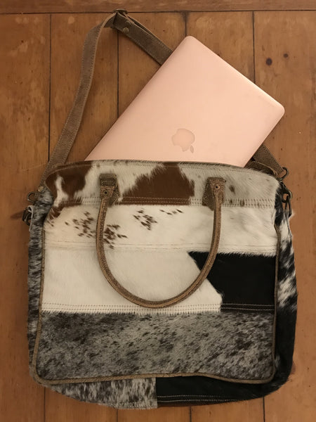 Hair on Hide Laptop Bag