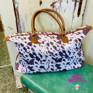 Moody Cow Print Bag