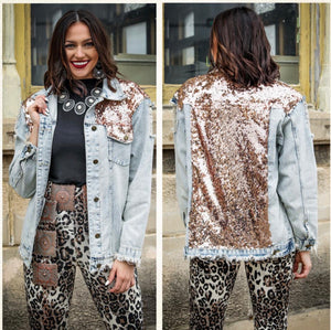 Rose Gold Gypsy Soul Denim Jacket