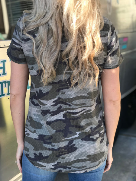 Military Mind Camo Top