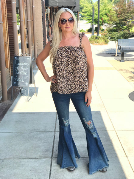 Liza Jane Animal Print Bow Top