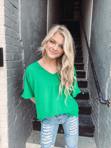 The Lucky One Kelly Green Top