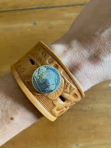 Buffalo Nickel Cuff in Tan