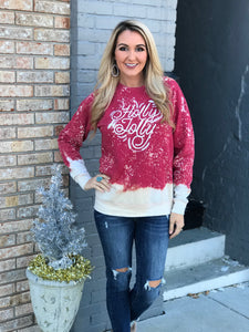 Holly Jolly Distressed Sweatshirt