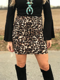 City Nights Leopard Skirt