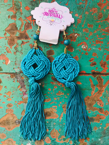 Cattywampus Earrings In Turquoise