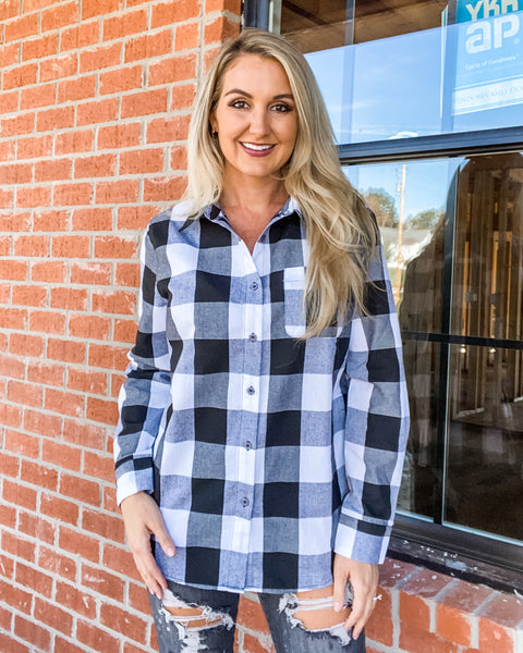 Churchill Buffalo Plaid Top