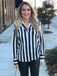 Blurred Lines Black Stripe Top