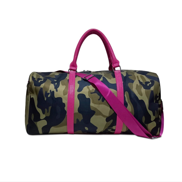 Camo & Hot Pink Mini Duffle