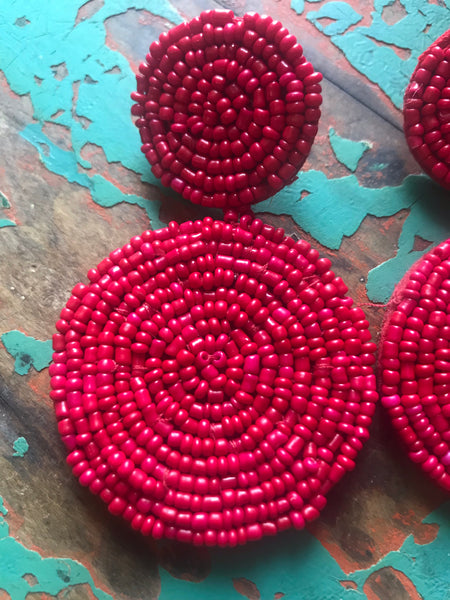 Rojo Drop Earrings