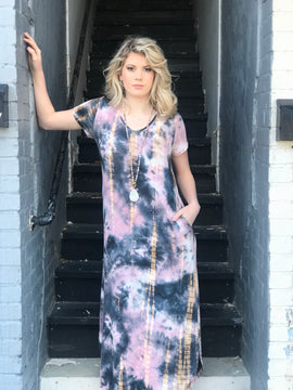 Spring Daze Tie Dye Maxi Dress