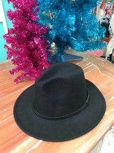 Alibi Western Felt Hat in Black