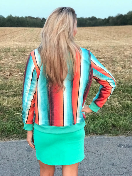 Backroads Serape Bomber Jacket