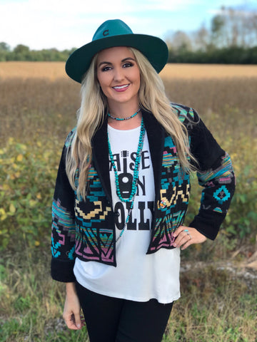 The Anni Aztec Jacket - MEDIUM ONLY