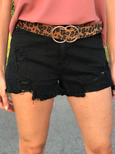 Jagger Black Denim Cutoff Shorts