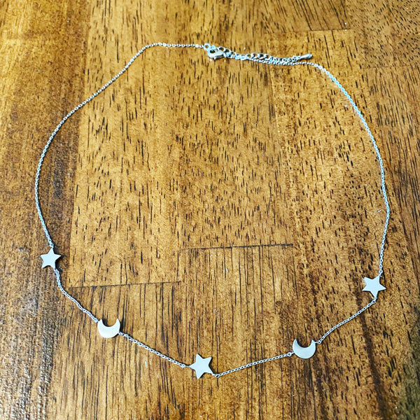 Twinkle Star & Moon Necklace