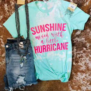 Sunshine Mixed with Hurricane Distressed Tee