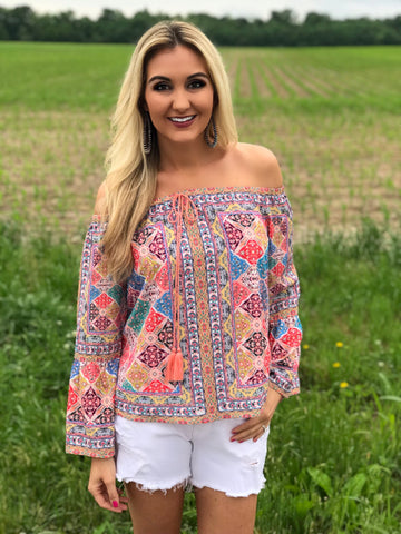 Cabo San Lucas Off the Shoulder Top