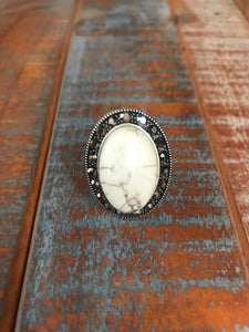 Lynchburg White Stone Ring