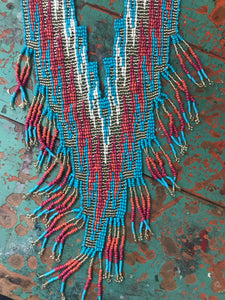 Rambler Seed Bead Necklace in Turquoise