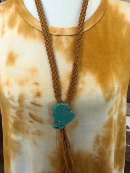 Lane Leather & Turquoise Bolo