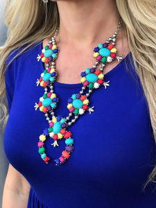 Fiesta Squash Blossom Necklace & Earrings