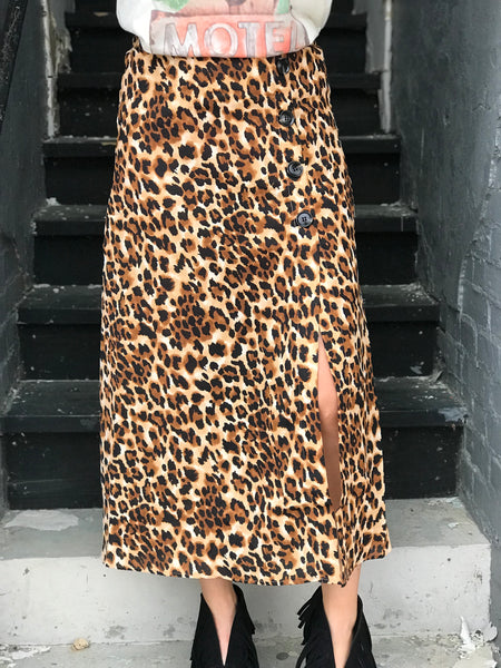 Lady Gang Leopard Maxi Skirt