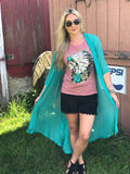 Twisted Turquoise Duster