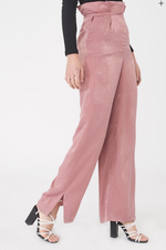 Load image into Gallery viewer, Satin Pleated Wideleg Trousers
