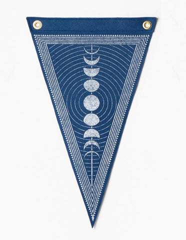 Moon Phase Lunar Flag Wall Hanging