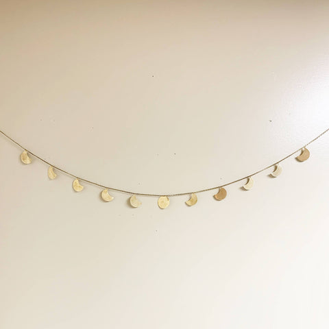 Brass Moon Phase Wall Garland