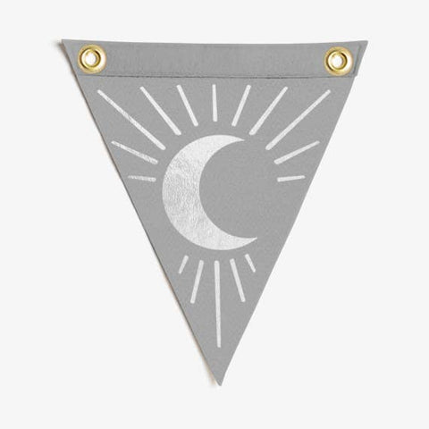 Silver Mini Moon Flag Wall Hanging