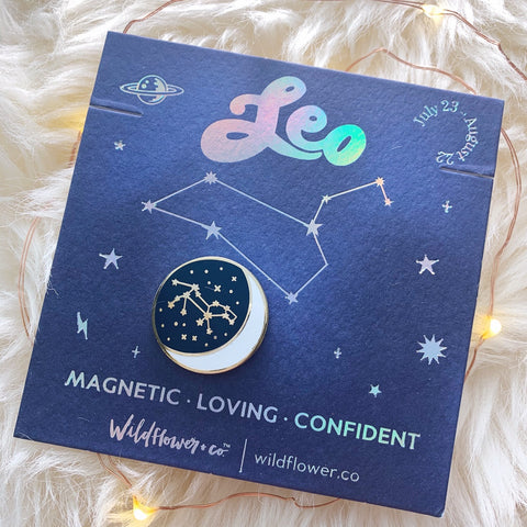 Constellation Zodiac Enamel Pin - Leo